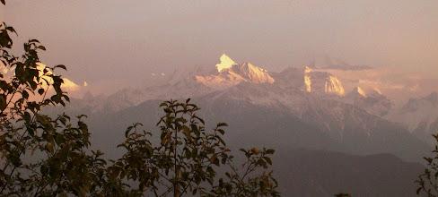 Photo: Wir haben am frühen Morgen das erste Mal richtig schöne Bergsicht.