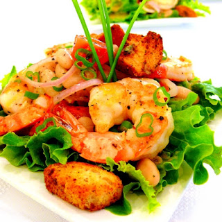 Shrimp and Cannellini Salad with Oregano-Chive Vinaigrette