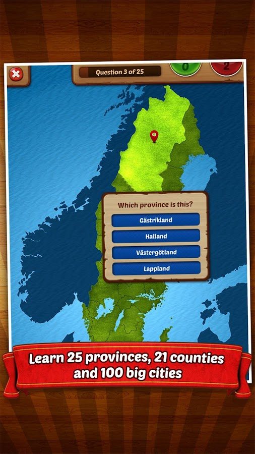 GeoFlight Sweden - Geography- screenshot