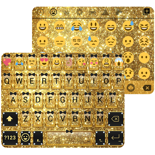 Gold Glitter Emoji Keyboard - Apps on Google Play