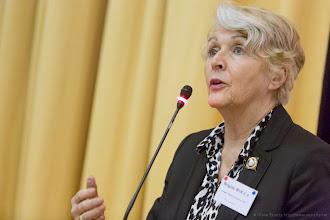 Photo: Brigitte Rocca, vice-présidente de Femmes & Sciences, co-organisatrice du colloque -Photo Olivier Ezratty