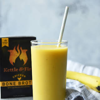 Pineapple Mango Ginger Bone Broth Smoothie.