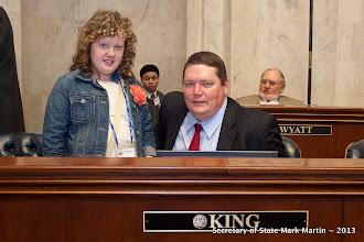 Photo: 3-27-13 Sen King with Hannah King