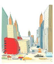 Photo: Guido Scarabottolo, New York, C-print, 2017 (Disegno per la copertina dello speciale su New York di Abitare, Maggio 1999)