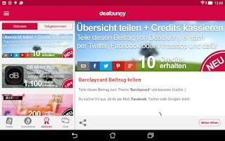 Screenshot of dealbunny.de Schnäppchen App