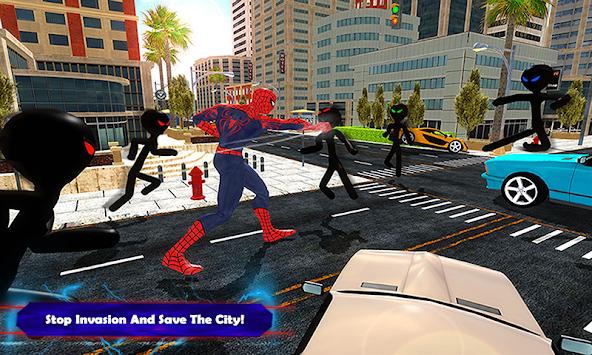 Spider vs Stickman Survival Battle apk screenshot