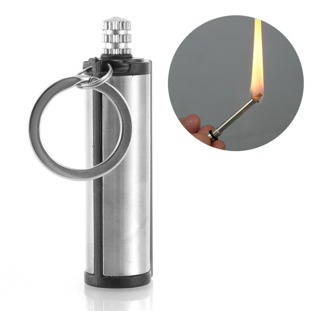 Fire Starter Multi Emergency Flint Match Lighter Camping Survival Keychain NEW