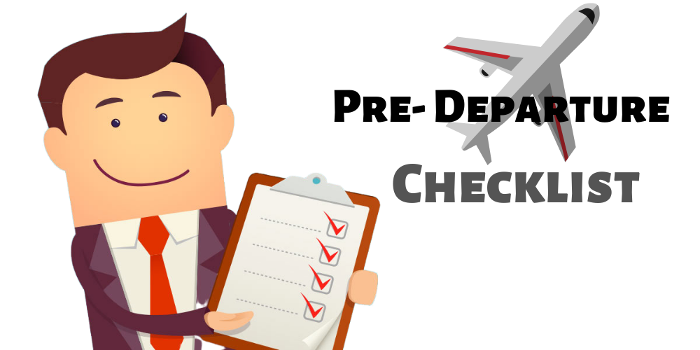 Image result for pre departure checklist
