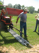 Photo: Ed showing how you can manually allign the panel about 6 inches.   HALS Work Day 2013-1005 RPW