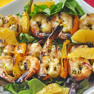 Orange Mint Grilled Shrimp.
