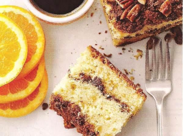 Orange Coffee Cake With Chocolate Streusel Recipe