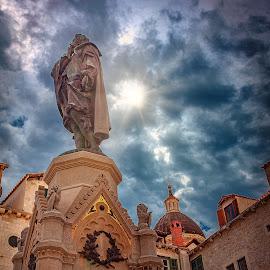 Ivan Gundulić by Branko Meic-Sidic - Buildings & Architecture Statues & Monuments ( croatia, statue, dubrovnik, meicsidic, ivangundulic )
