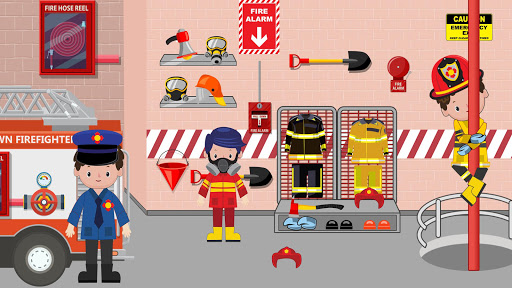 Pretend Play Fire Station: Town Firefighter Story android2mod screenshots 1
