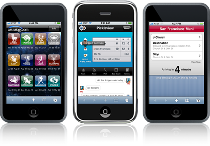 iPhone web applications