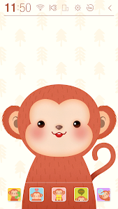 Happy Monkey Year Atom Theme screenshot 0