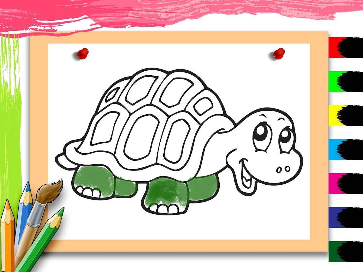 kids animal color u0026 draw fun android apps on google play