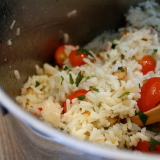 Rice Salad with Tomatoes, Almonds, and Herbs