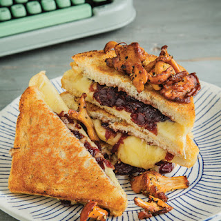 Paul's Grilled Cheese with Chanterelles & Cranberry Sauce