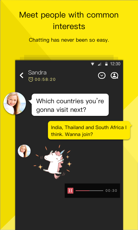 TalkingBar - Chat Whenever- screenshot