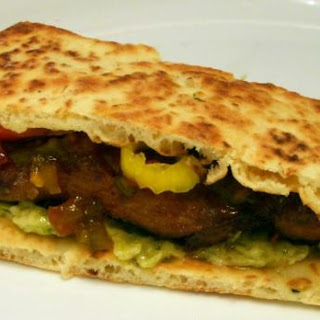 Sticky Chicken Naan Sandwich