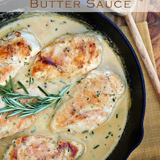 Chicken with Rosemary Butter Sauce.