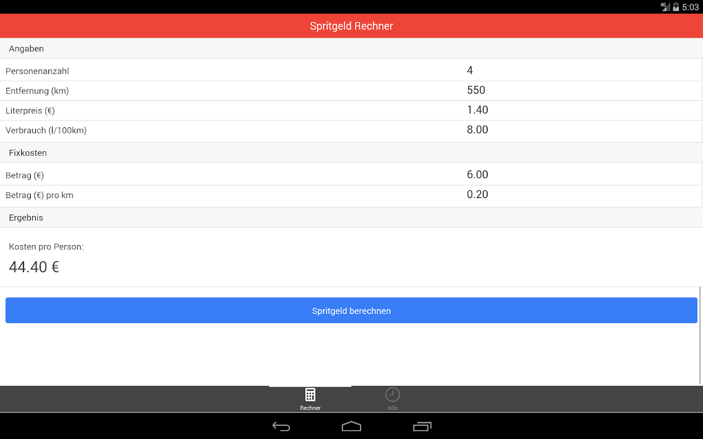 spritgeld rechner android apps on google play