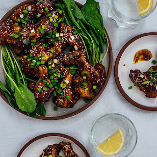 Sticky Baked Chicken Wings.