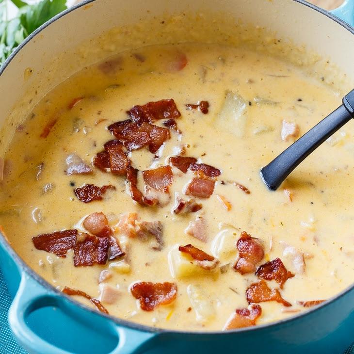 Cheesy Ham and Potato Chowder