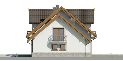 Dom przy Cyprysowej 14 D - Elewacja prawa