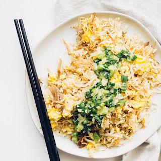 BBQ Pulled Pork and Egg Fried Rice with Ginger Scallion Oil.