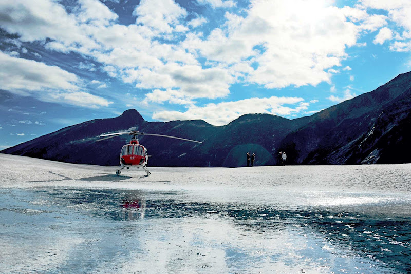 Prepare for awe-inspiring views at the Juneau Ice Field, the source of many glaciers.