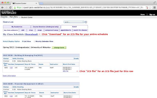 UW Class Schedule Exporter