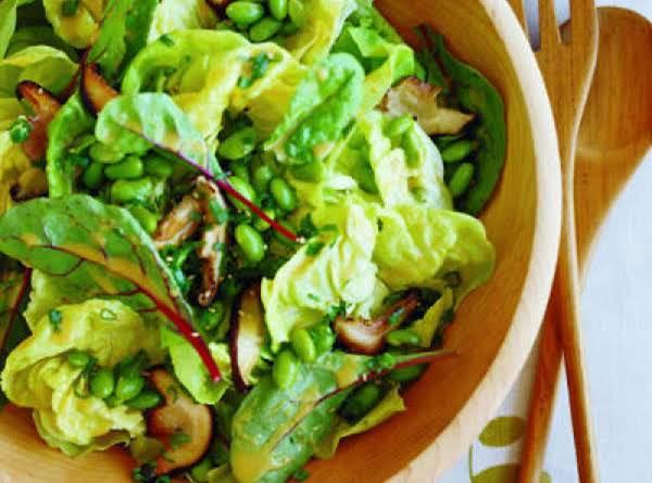 Shintake Edamame Salad W/white Miso Vinaigrette Recipe