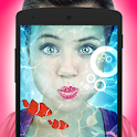 Underwater photo effects icon