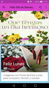 Feliz Dia De La Semana Con Flores Apps En Google Play