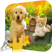 Sweet Cat And Dog Puzzle