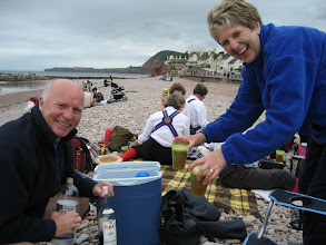 Photo: If it's the Darbys at Sidmouth, it must be Pimms.