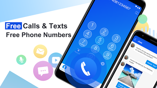 Free phone calls, free texting SMS on free number - screenshot