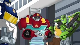 Quatre robots et un couffin