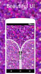 Purple Glitter Zip Locker best wallpaper for girls - náhled