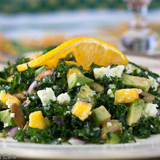 Kale Salad with Mango, Feta & Avocado