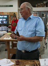 Photo: Terry Lamb, with encouragement from his brother, Peter, made an assortment of four tools and used them to turn a couple small hollow forms.