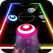 Glow Air Hockey 2 Players Online