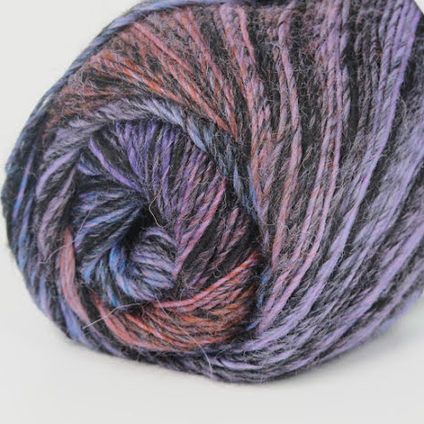 Jawoll Magic Rosa/röd/orange/svart, randig nr. 53