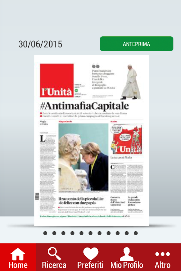 l'Unità edicola digitale- screenshot