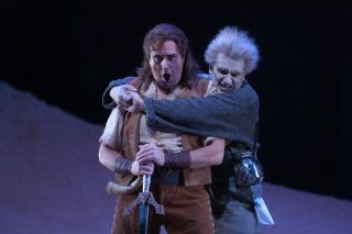 Photo: John Treleaven (Siegfried) and David Cangelosi (Mime) in Lyric Opera of Chicago's production of Siegfried.  Credit photo by Dan Rest/Lyric Opera of Chicago.