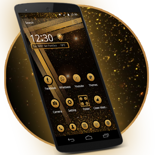 Cool Black Gold Biz Tema file APK for Gaming PC/PS3/PS4 Smart TV