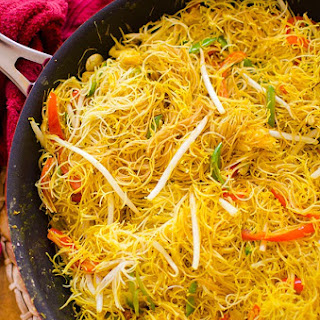 Vegetarian Singapore Noodles.