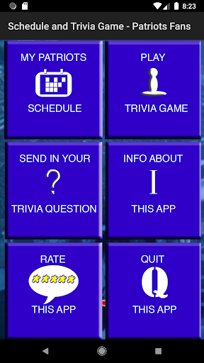 Schedule Trivia Game for New England Patriots Fans 134 screenshots 1