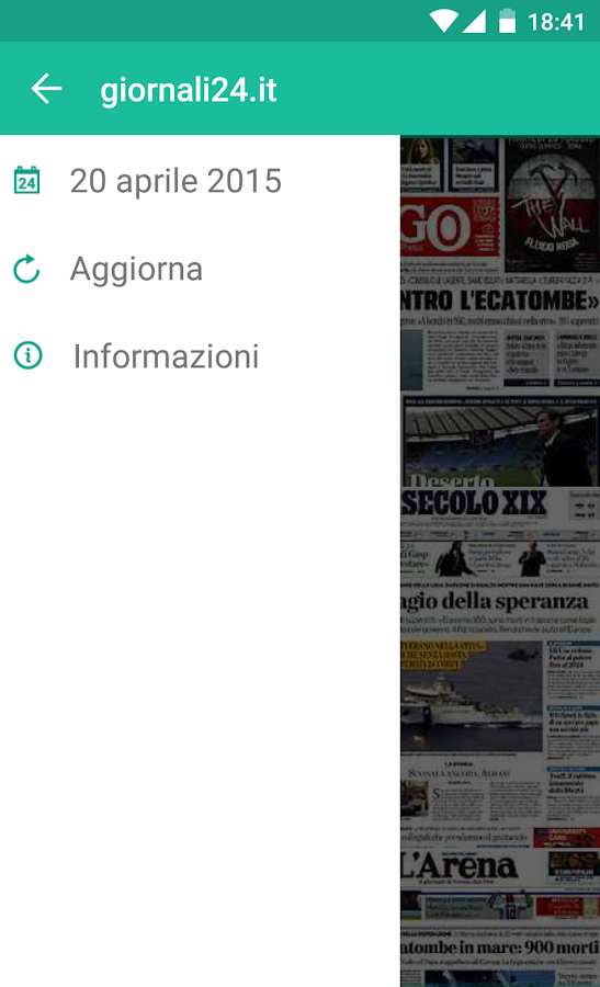 Italian Newspaper Front Pages- screenshot
